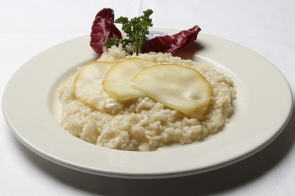 Smoked Cheese and Champagne Risotto